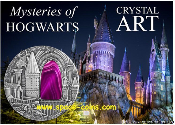 Crystal Art Iv 2 $ 2015 Niue Island Mysteries Of Hogwarts Special Buy